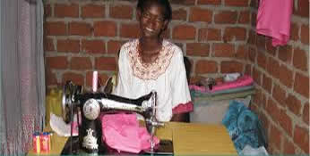 one of the beneficiaries of our tailoring project